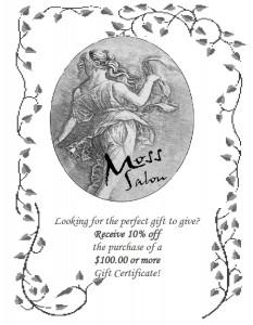 Hair Salon Gift Certificate Promo